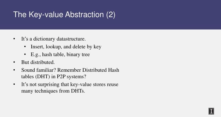 The key value abstraction 2