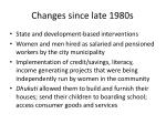 changes since late 1980s