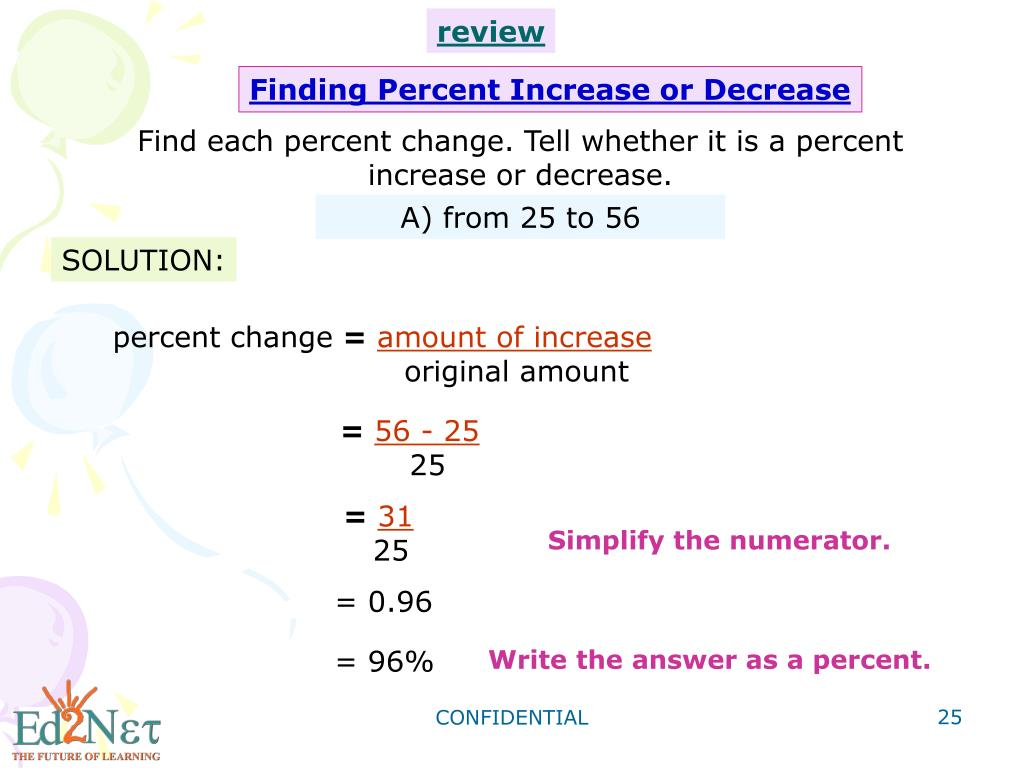 PPT - Algebra1 Percent Increase and Decrease PowerPoint