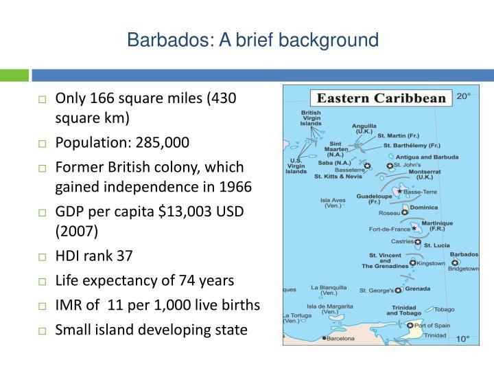 Barbados: A brief background