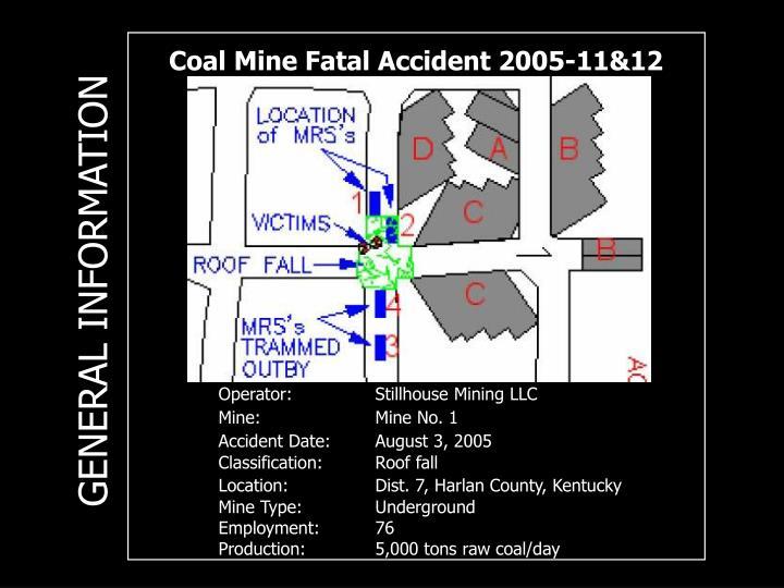 Coal Mine Fatal Accident 2005-11&12