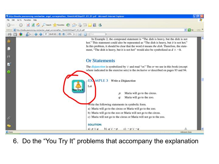 """6.  Do the """"You Try It"""" problems that accompany the explanation"""
