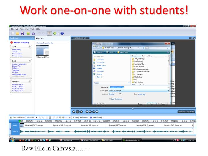 Work one-on-one with students!