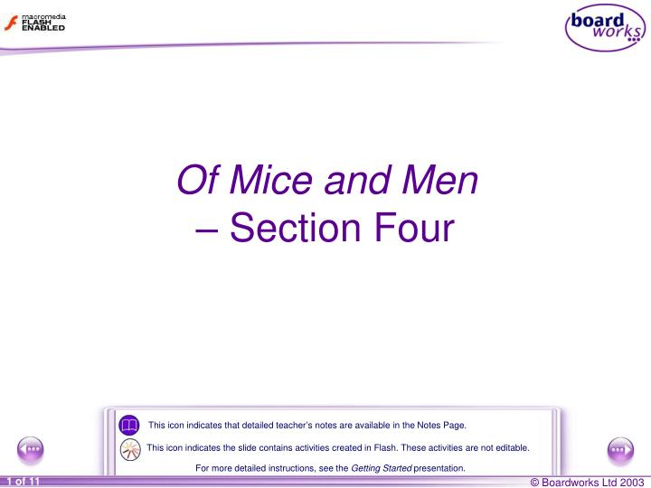 of mice and men section four