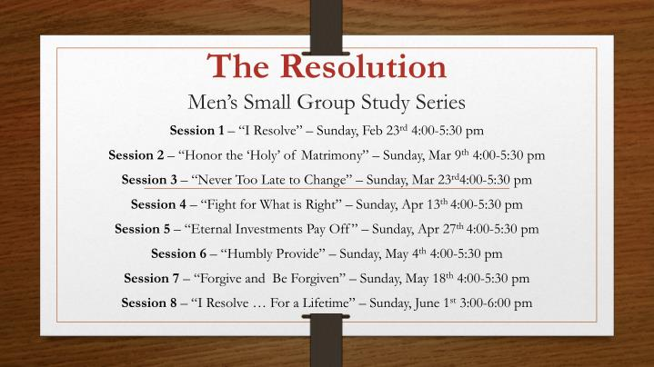 the resolution men s small group study series n.