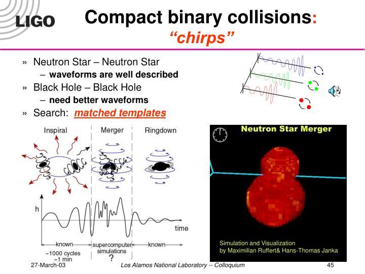 Compact binary collisions