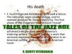 his death