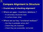 compare alignment to structure1
