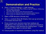 demonstration and practice1
