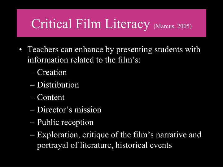 Critical Film Literacy