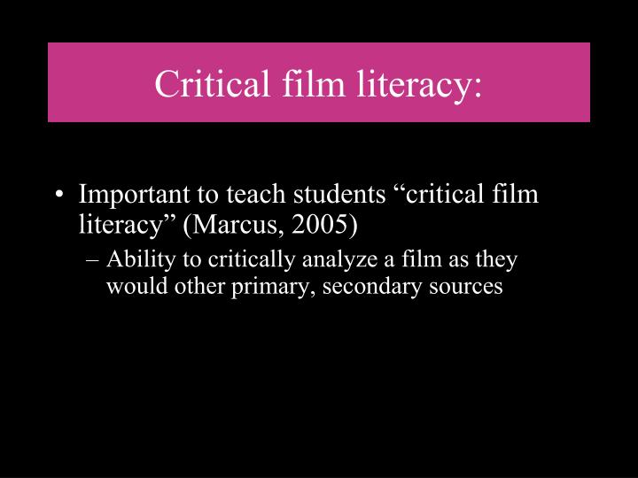 Critical film literacy: