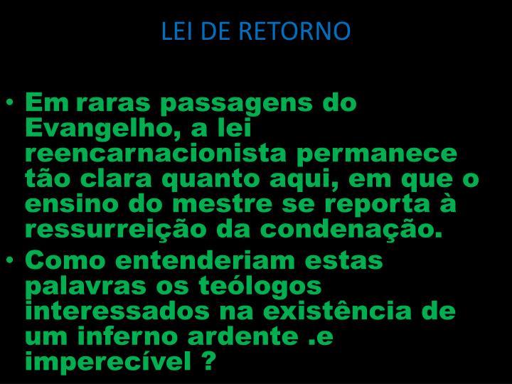 Lei de retorno1