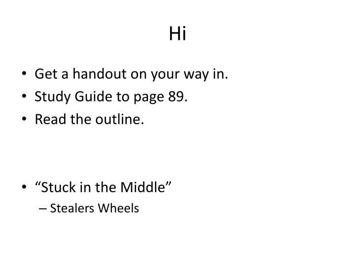 stuck in neutral study guide