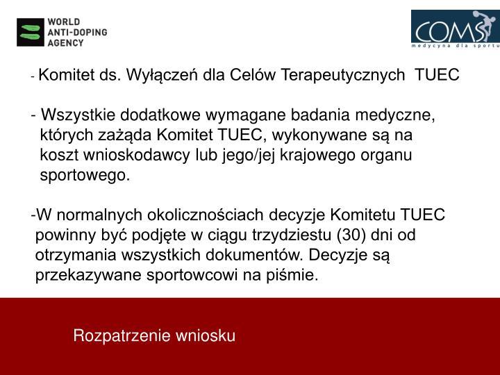 Komitet ds. Wyłączeń dla Celów Terapeutycznych  TUEC