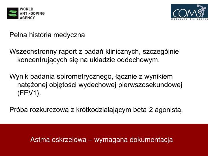 Pełna historia medyczna