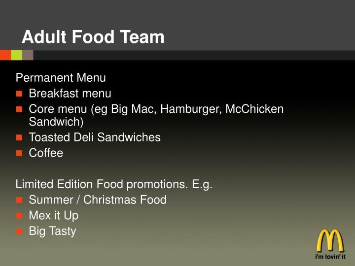 Adult Food Team
