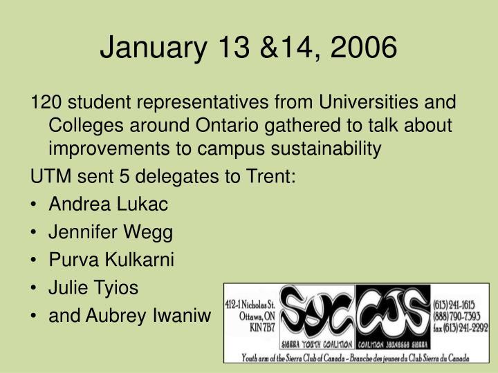 January 13 14 2006