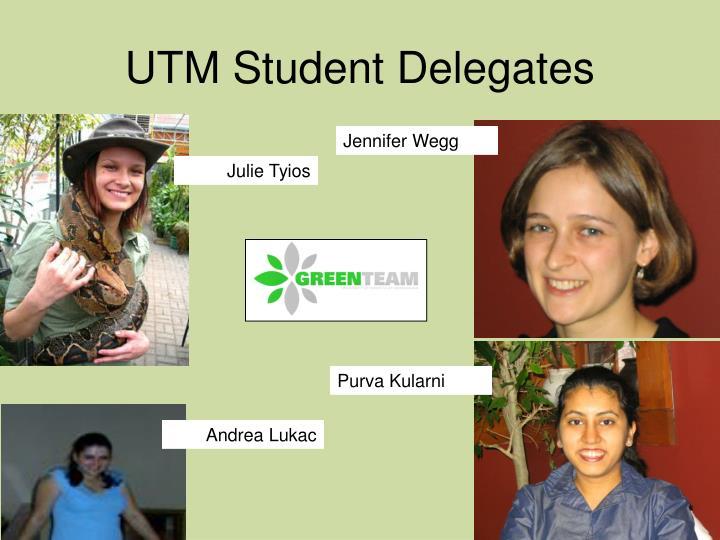 UTM Student Delegates