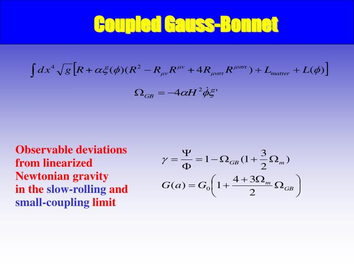 Coupled Gauss-Bonnet