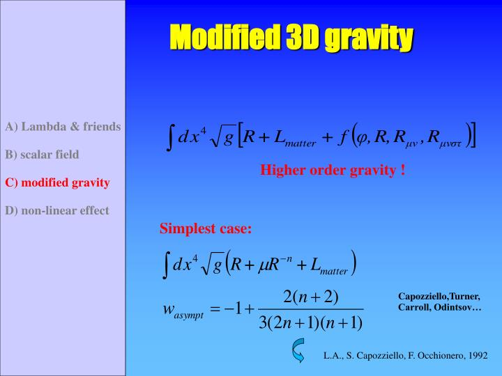Modified 3D gravity