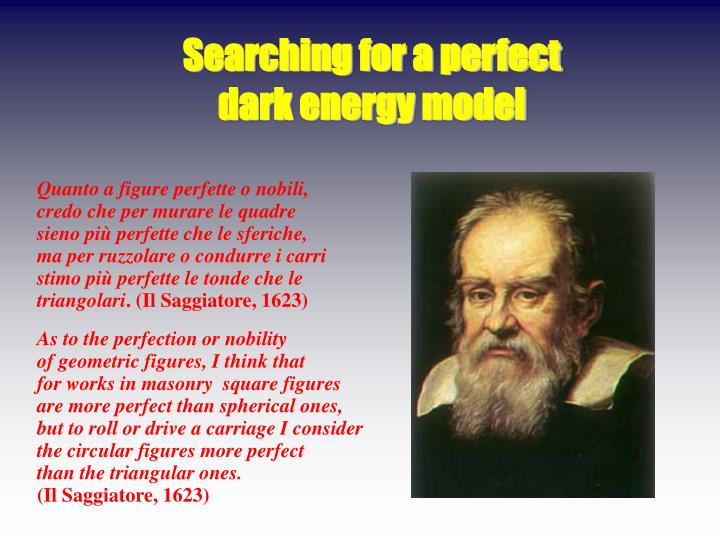 Searching for a perfect dark energy model