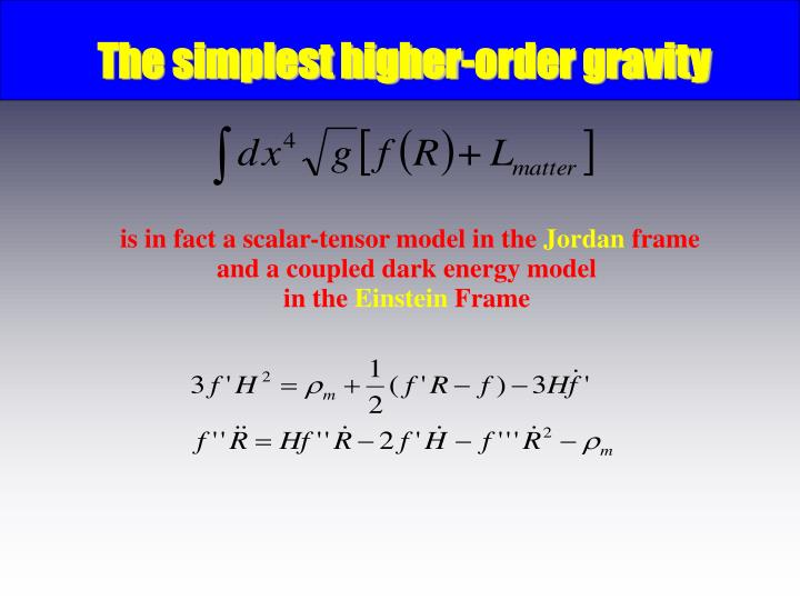 The simplest higher-order gravity