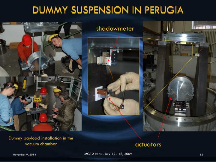 DUMMY SUSPENSION IN PERUGIA