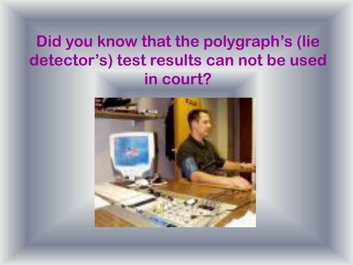 Jew Detector: Lie Detector PowerPoint Presentation