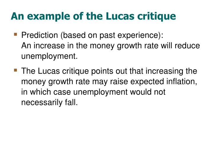 An example of the Lucas critique