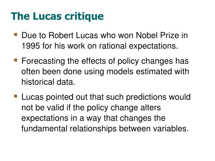 The Lucas critique