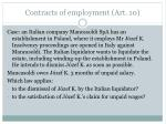 contracts of employment art 101