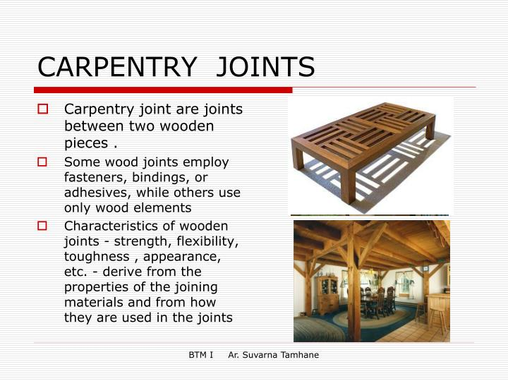 Carpentry Joints Ppt