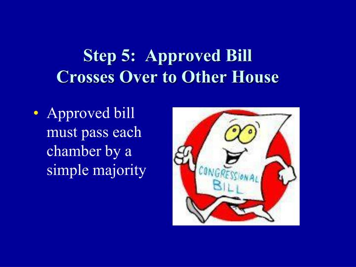 Step 5:  Approved Bill