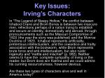 key issues irving s characters1