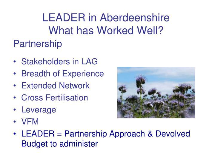 LEADER in Aberdeenshire