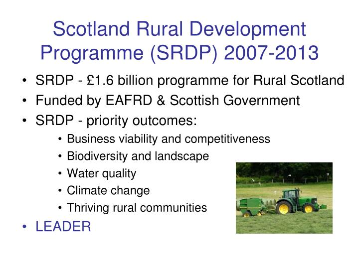 Scotland rural development programme srdp 2007 2013