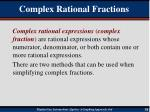 complex rational fractions