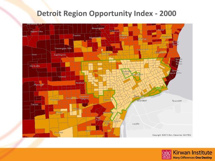 Detroit Region Opportunity Index - 2000