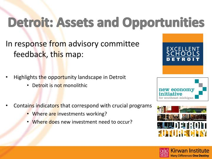 Detroit: Assets and Opportunities