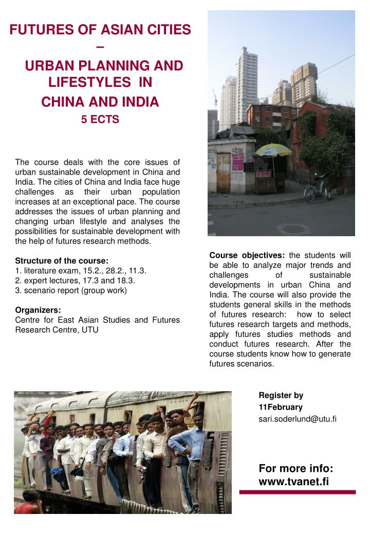 PPT - FUTURES OF ASIAN CITIES – URBAN PLANNING AND