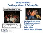 movie premiers the hunger games catching fire