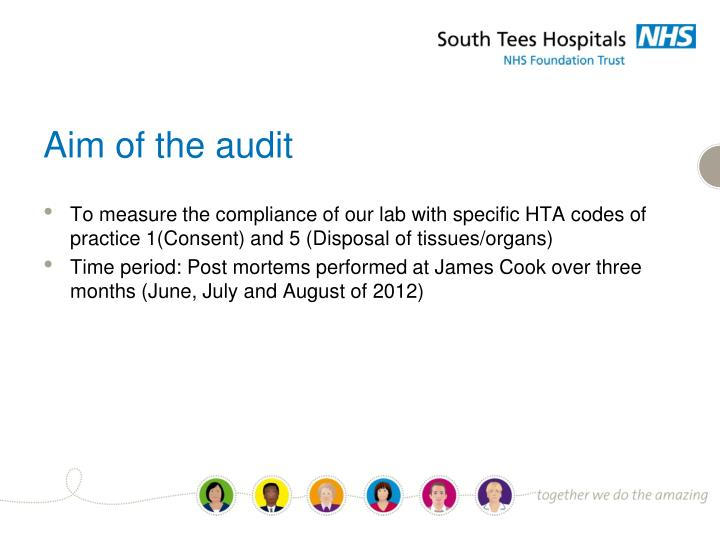 Aim of the audit