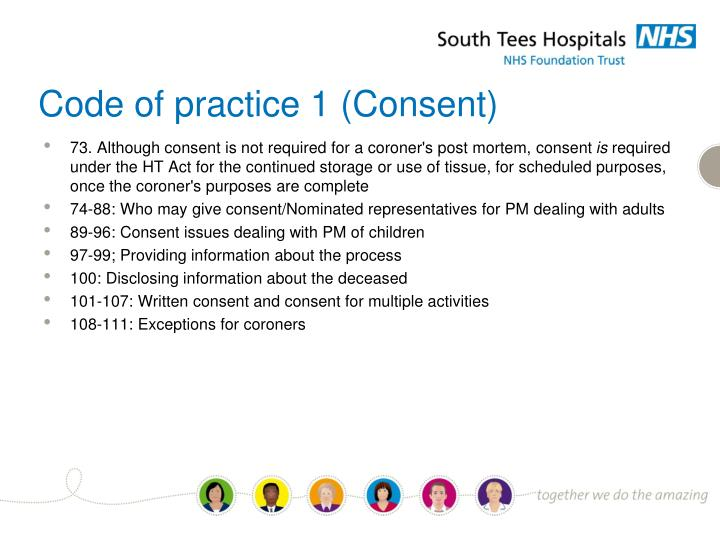 Code of practice 1 (Consent)