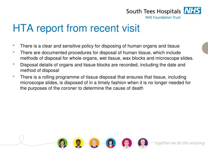 HTA report from recent visit