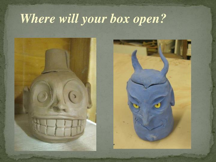 Where will your box open?