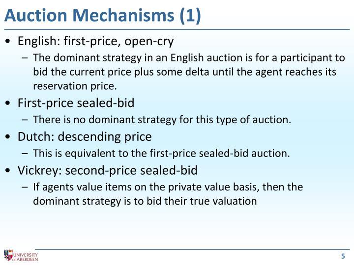 Auction Mechanisms (1)