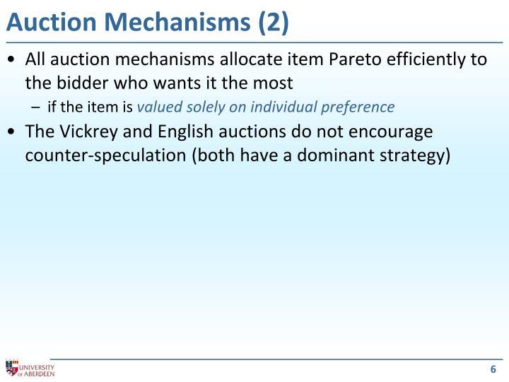 Auction Mechanisms (2)