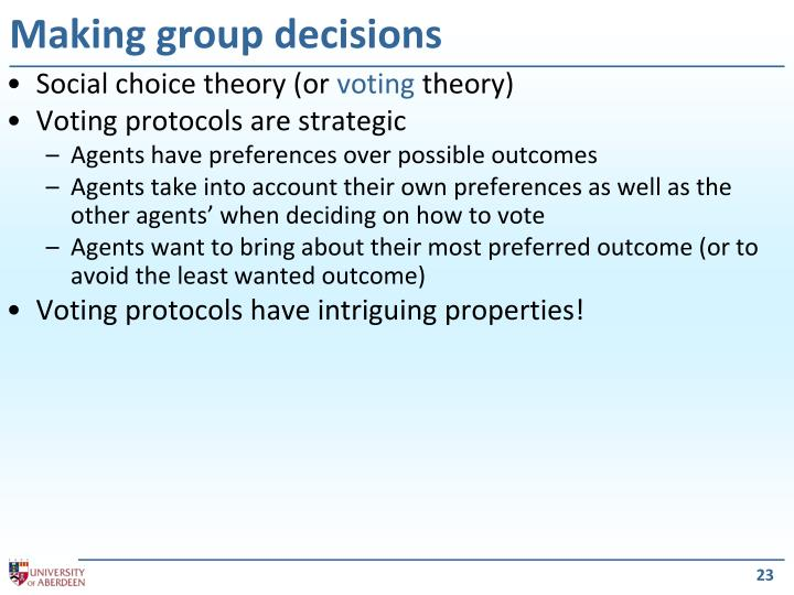 Making group decisions
