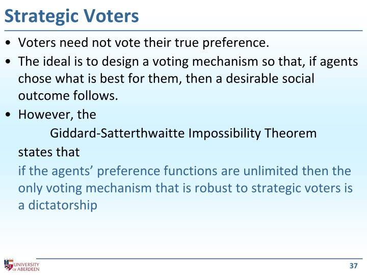 Strategic Voters