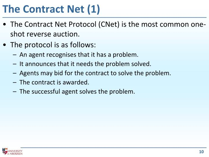The Contract Net (1)